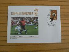 Norway - Spain, 2000 Football European Championship Commemorative Cover