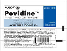Major - Povidine - Premiers Soins Povidone Iodine 10% Pommade 1 Oz 28.35gm