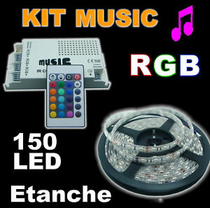 851/30E5# Strip LED RGB +controleur MUSIC 5m + alim