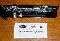 1955 - 1956 CHEVROLET Bel Air - 210 - Nomad GAUGE FACES - 1/25 scale REVELL KITS