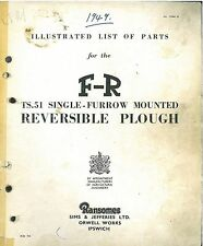 RANSOMES REVERSIBLE PLOUGH TS51 PARTS MANUAL - GTC