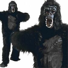 Adult Gorilla Rubber Chest Ape Monkey Animal Mens Ladies Fancy Dress Costume