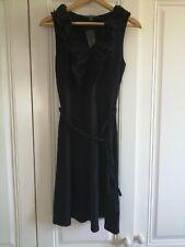 Ralph Lauren Black Jersey dress with broderie anglais V neckline size S. BNWT
