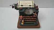 1989 Vintage Enesco Santa's Mice Typewriter Music Box