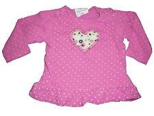 Topolino tolles Langarm Shirt Gr. 68 rosa-weiß gepunktet mit Herzmotiv !