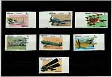 Indochina Vietnam Airplanes Withdrawn Stamps Full Set of 7 IMP MNH Extra Margin