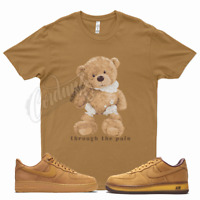 Wheat SMILE T Shirt for Nike Wheat Air Force 1 4 6 13 Dunk SB Mocha Flax