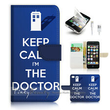 ( For iPhone 5 / 5S / SE ) Wallet Case Cover! P0706 Keep Calm Doctor
