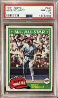 1981 Topps #540 Mike Schmidt PSA 8 NM-Mint Condition Philadelphia Phillies HOF