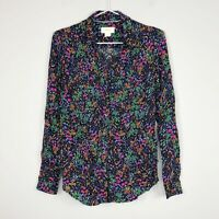 Maeve Anthropologie Women's Multicolor Floral Relaxed Button Up Shirt Top Size 0