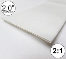 "2"" ID White Heat Shrink Tube 2:1 ratio polyolefin 2.0"" feet/ft/to 50mm (8 inch)"