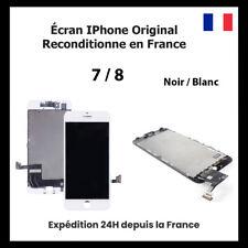 ECRAN POUR IPHONE 7 / 8 / LCD VITRE TACTILE NOIR / BLANC ORIGINAL RECONDITIONNE