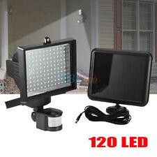 120LED Solar Powered PIR Motion Sensor Security Flood Light Lamp Garden Outdoor