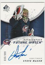 2008-09 SP Authentic #209 Steve Mason AU RC /999 on-card autograph rookie