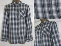 NEW Marks & Spencer M&S Ladies Checked Shirt Blouse Top Black Grey Casual Size 8