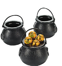 Black Candy Kettles 12 Piece Halloween Party Favor Decoration