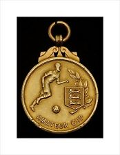 9ct Gold Football Medal. FA Amateur Cup Winners 1961. Walthamstow Avenue FC.