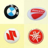 2Pcs BMW DUCATI Suzuki YAMAHA Logo Motorcycle PVC Decal Badge Reflective Sticker