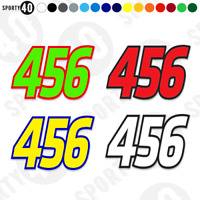 NUMBER SET 3x Sticker Vinyl Decal 1x150mm & 2x125mm LARGE Race Edition 5502-0420