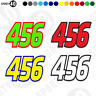 NUMBER SET 3x Sticker Vinyl Decal 1x125mm & 2x100mm SMALL Race Edition 5502-0420