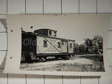 Virginia & Truckee Railroad Caboose #24: Nevada 1955 Vintage Train Photo