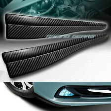 363MM X 64.8MM CARBON STYLE BUMPER LIP CORNER SIDE SCRACH PROTECTOR STRIP GUARD