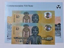 1988 Bi-Centenary $10 Johnson/Fraser Last Prefix AA23 CONSECUTIVE Pair ** UNC **