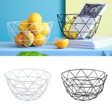 Kitchen Food Basket Iron Wire Mesh Fruit Bowl Basket Vegetable Organizer