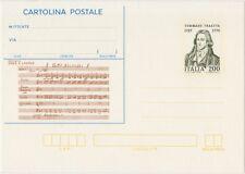 CARTOLINA POSTALE 200 LIRE 25/5/1982 TOMMASO TRAETTA - NUOVO C191