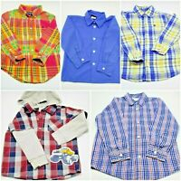 Toddler Boys 4T Lot of 5 LS Plaid Shirts Ralph Lauren Nautical Carters Tommy Guy