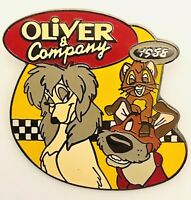 Vtg Disney OLIVER & COMPANY #26 Of 101 Disney Movies Silver Back Clasp Pin