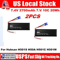 2PCS 7.4V 2700mAh 10C Lipo Battery for Hubsan H501S RC Quadcopter Drone H501S-14