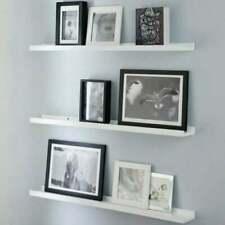Wooden Photo Hanging Wall Shelves White Storage Units Floating Home Decor Ledges