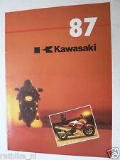 K130 KAWASAKI  BROCHURE PROSPEKT 1987 ALL MODELS DUTCH 8 PAGES GPZ1000RX,KLR650,