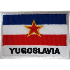 Yugoslavia Flag Patch Iron Sew On Clothes Yugoslav Yugoslavian Embroidered Badge