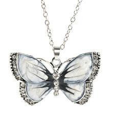 Women Fashion Jewelry Enamel Dragonfly/Butterfly Crystal Pendant Necklace Hot