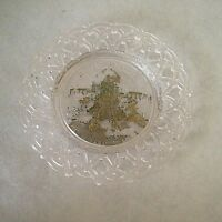 """Vintage World's Fair 1904 Glass Collector Plate St. Louis, Mo. 7.5"""" w/gold paint"""