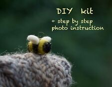 Needle felting Kit Bumblebee Broche instrucción de foto/DYI Kit Para Principiantes