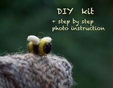 Needle felting Hágalo usted mismo kit Bumblebee Broche instrucción de foto/DYI Kit Para Principiantes