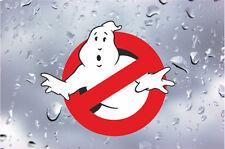 x2 Ghostbusters Ghost busters Stickers Car Van Decal inside window reverse print