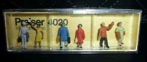 Preiser, Vintage, New Package, Item# 4020, HO scale, Passengers, 6x