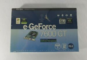 EVGA e-GeForce 7600 GT Graphics Card, PCI-E, GDDR3, HD Gaming, Gaming  New-Other