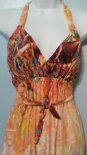 Multicolor sundress, Small, burgundy, orange, yellow, and green