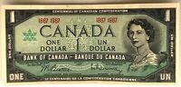 1967 CANADIAN 1 DOLLAR BILL VERY NICE CRISP
