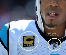 NFL 2017 SEASON CAROLINA PANTHERS' CAPTAIN QBCam Newton IRON-ON 4⭐STAR 2-PATCH
