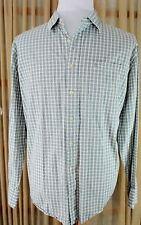 Timberland Shirt - Long Sleeve Button Down - Men's XL - Green Plaid 100% Cotton