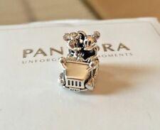 New Pandora #797174 Disney Mickey and Minnie Mouse VINTAGE CAR Bead Charm silver