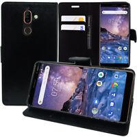 """Custodia protettiva cellulare per Nokia 7 PLUS 6.0 """" PORTAFOGLIO FLIP PIEGHEVOLE"""