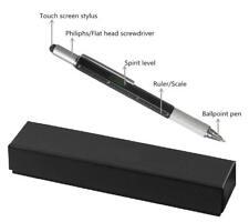 GRADUATION UNISEX GIFT BLACK PEN TOOL 6 in 1 Multipurpose Pen in a GIFT BOX- NEW