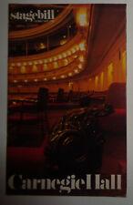 "80TH BIRTHDAY CELEBRATION OF ""HILDEGARDE!"" - CARNEGIE HALL STAGEBILL 1986"
